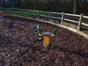 Photograph of T-Rex springer for children